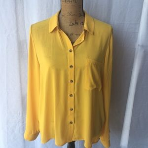 Forever 21 Bright Yellow Blouse